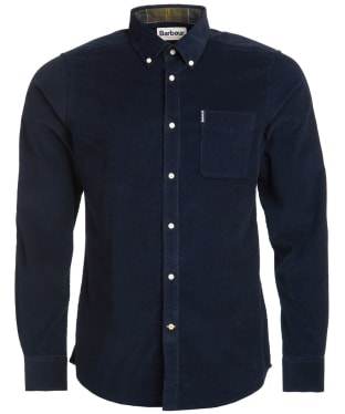 Men's Barbour Cord 2 Tailored Shirt - Navy