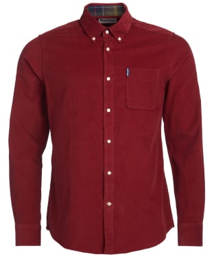 Men's Barbour Cord 2 Tailored Shirt - Rust