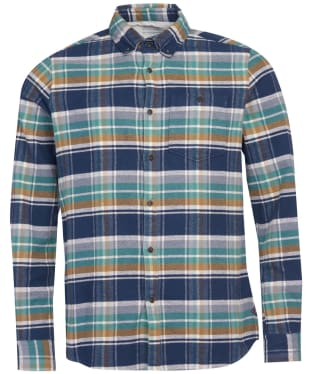 Men's Barbour International Steve McQueen Rocky Check Shirt - Navy Check