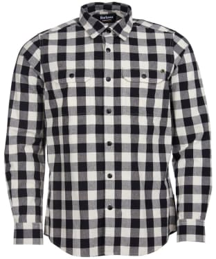 Men's Barbour International Bold Block Check Shirt - Whisper White Check