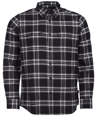 Men's Barbour International Bold Line Check Shirt - Black Check