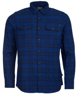 Men's Barbour International Bold Line Check Shirt - Strong Blue Check
