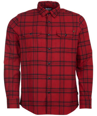 Men's Barbour International Bold Line Check Shirt - Crimson Check