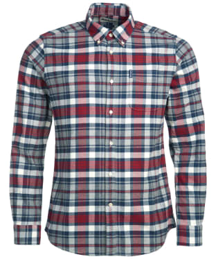 Men's Barbour Highland Check 31 Tailored Shirt - Rich Red Check
