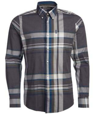 Men's Barbour Highland Check 33 Tailored Shirt - Grey Marl Check
