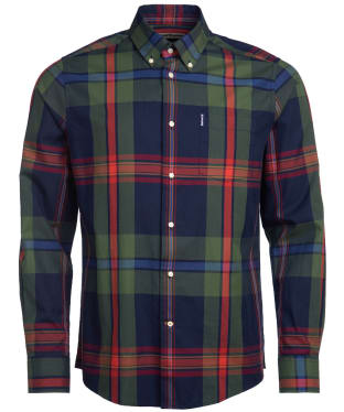 Men's Barbour Highland Check 33 Tailored Shirt - Navy Check