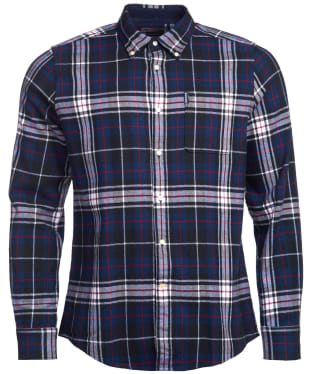 Men's Barbour Highland Check 34 Tailored Shirt - Navy Check
