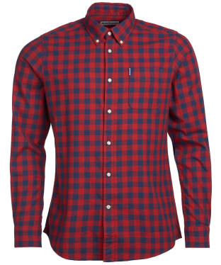 Men's Barbour Gingham 21 Tailored Shirt - Ruby Check