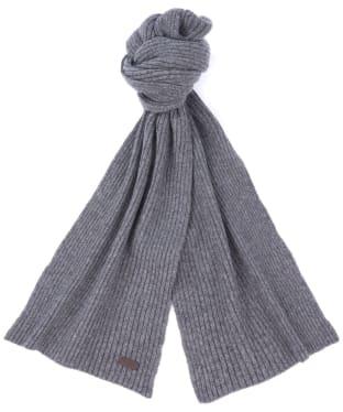Barbour Plain Carlton Wool Scarf - Grey