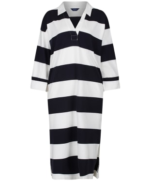 Women's GANT Feminine Striped Rugger Dress - Evening Blue
