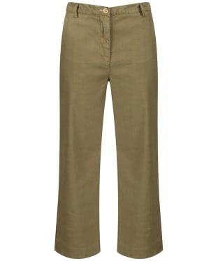 Women's GANT Summer Linen Pant - Olive