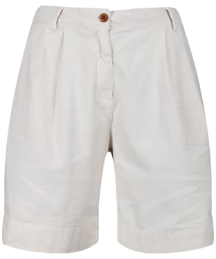 Women's GANT Pleated City Shorts - Putty