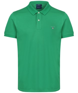 Men's GANT the Original Pique Rugger Polo Shirt - Amazon Green