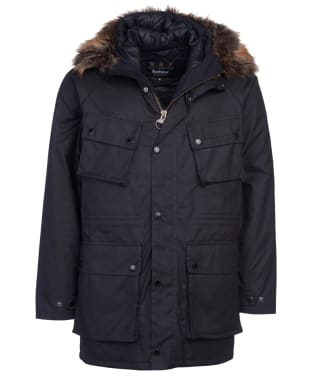 Men's Barbour International Race Waxed Parka - Black