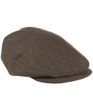 Women's Schoffel Chatsworth Tweed Cap - Loden Green Herringbone Tweed