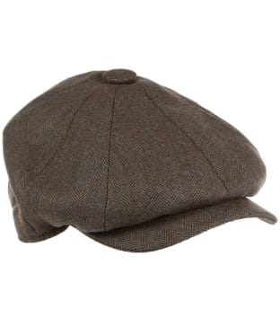 Men's Schöffel Newsboy Cap - Loden Green Herringbone Tweed
