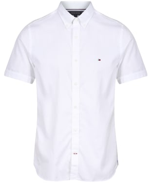 Men's Tommy Hilfiger Slim Fine Twill Short Sleeve Shirt - White