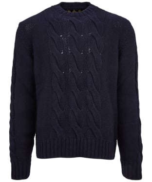 Men's Barbour Lennox Cable Crew Sweater - Navy