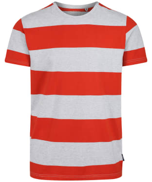 Men's Joules Boathouse Tee - Grey/Orange Stripe