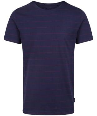 Men's Joules Boathouse Tee - Navy/Purple Stripe