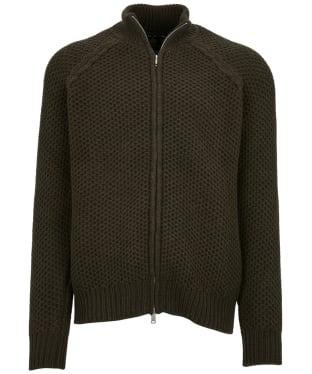 Men's Barbour Mack Zip Through Knit - Dark Olive