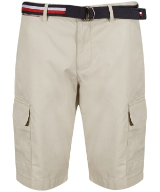 Men's Tommy Hilfiger John Light Twill Cargo Shorts - Light Stone