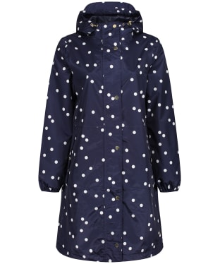Women's Joules Waybridge Waterproof Packable Raincoat - Navy Spot