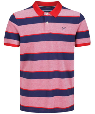 Men's Crew Clothing Oxford Polo Shirt - Navy / Red