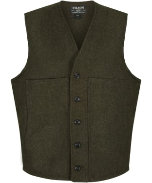 Men's Filson Mackinaw Wool Vest - Forest Green
