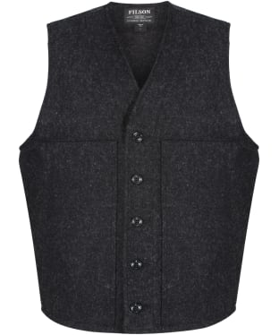 Men's Filson Mackinaw Wool Vest - Charcoal