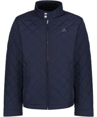 Men's GANT Windcheater Quilted Jacket - Evening Blue