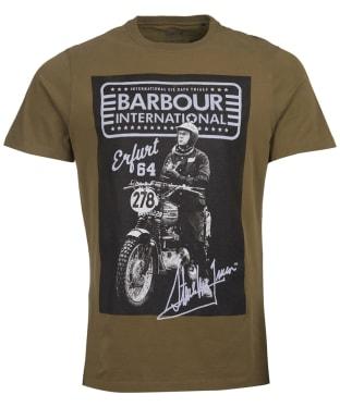 Men's Barbour International Steve McQueen Ringa Tee - Beech