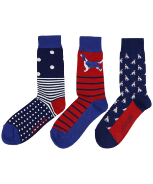Men's Joules Striking Socks – 3 pack - Dog