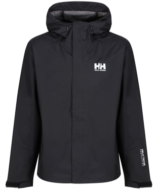Men's Helly Hansen Seven J Waterproof Jacket - Black
