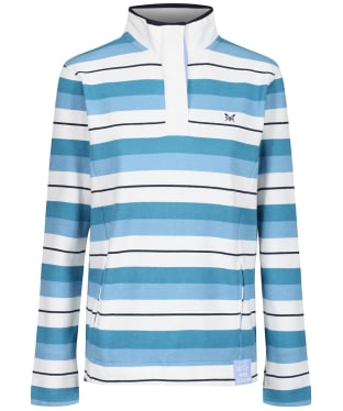 Women's Crew Clothing Padstow Sweater - Blue Stripe