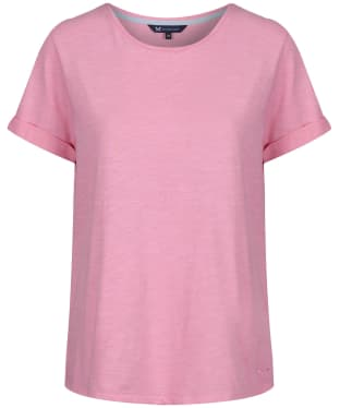 Women's Crew Clothing Slub Cotton T-Shirt - Pink