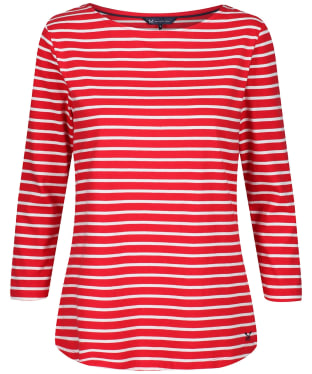 Women's Crew Clothing Essential Breton Top - Red / White
