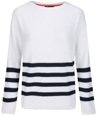 Women's Crew Clothing Austell Jumper - Cloud Stripe