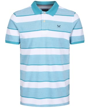 Men's Crew Clothing Oxford Polo Shirt - Navigo Bay / White
