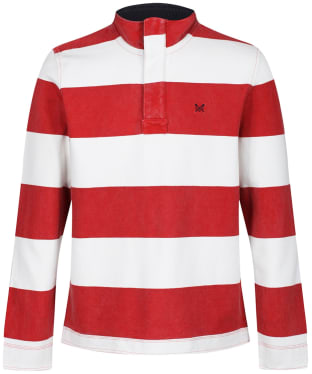 Men's Crew Clothing Wide Stripe Padstow Sweatshirt - Red / White