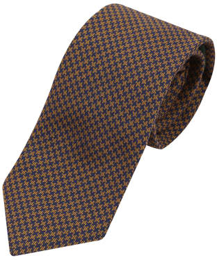 Men's Laksen Puppytooth Tie - Navy / Gorse