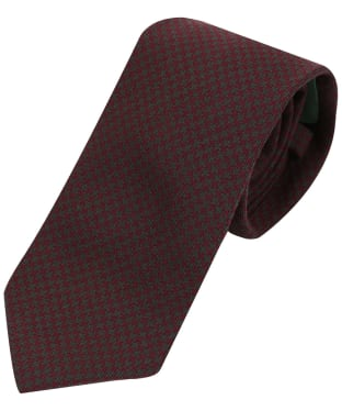 Men's Laksen Puppytooth Tie - Winy / Bottle