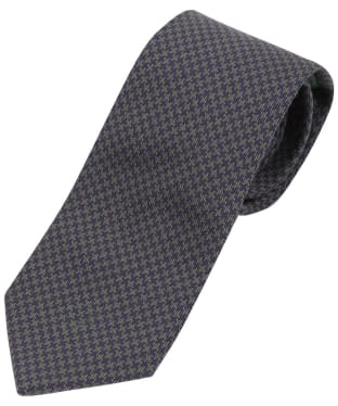 Men's Laksen Puppytooth Tie - Heather / Seagrass