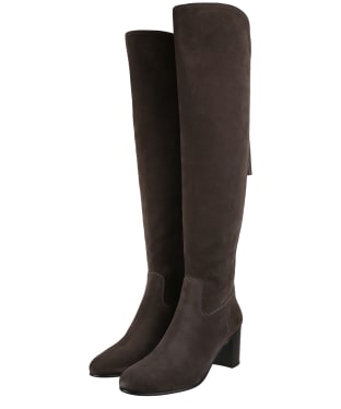 Women's Fairfax & Favor Amira Heeled Boots - Grey Suede