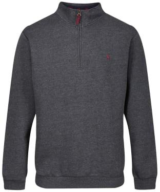 Men's Joules Drayton Quarter Zip Sweater - Grey