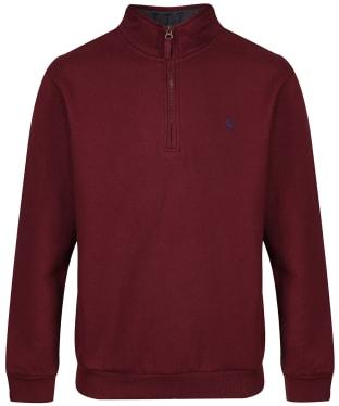 Men's Joules Drayton Quarter Zip Sweater - Port