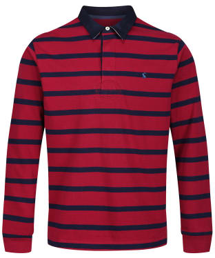 Men's Joules Onside Rugby Shirt - Red / Navy Stripe