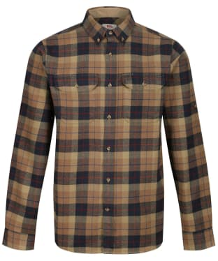 Men's Fjallraven Singi Heavy Flannel Long Sleeve Shirt - Dark Sand