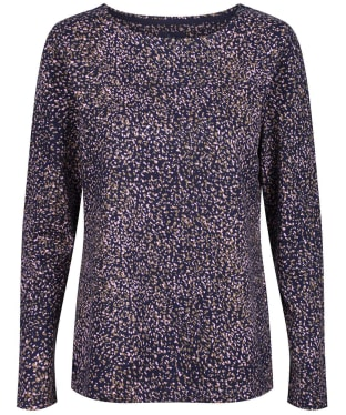 Women's Joules Harbour Printed Top - Navy Speckle