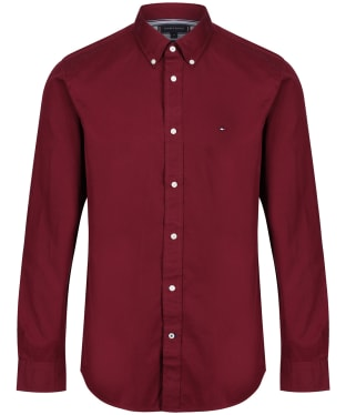 Men's Tommy Hilfiger Fine Twill Shirt - Deep Rouge